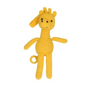 Muziekdoos giraffe, katoen, 3+