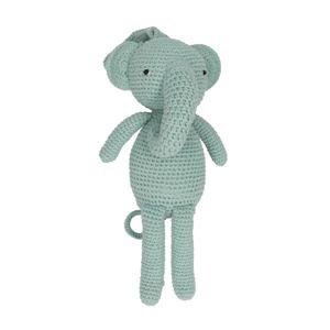 Muziekdoos olifant, katoen, 3+