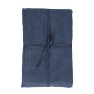 Nappe, coton bio, bleu foncé chiné, 140 x 180 cm