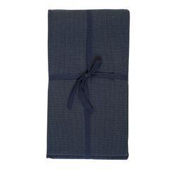 Nappe, coton bio, bleu nuit chiné, 145 x 300 cm