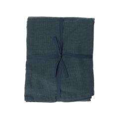 Nappe, coton bio, bleu nuit chiné, Ø 180 cm