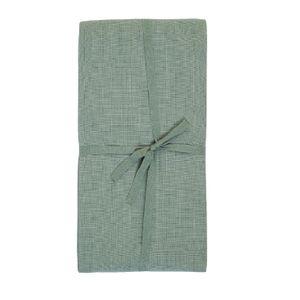 Nappe, coton bio, gris-vert foncé chiné, 145 x 250 cm