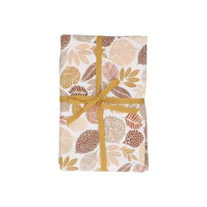 Nappe, coton bio, motif des feuilles brunes, Ø 180  cm