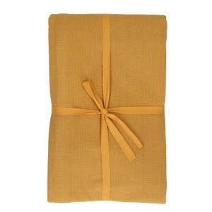 Nappe, coton bio, ocre jaune chiné, 145 x 250 cm