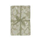 Nappe, coton bio, vert à motif de feuillage, 145 x 250 cm
