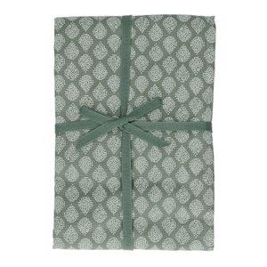 Nappe, coton bio, vert à motif de gouttes, 140 x 180 cm