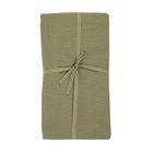 Nappe, coton bio, vert mousse chiné, 145 x 250 cm