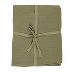 Nappe, coton bio, vert mousse chiné, Ø 180 cm