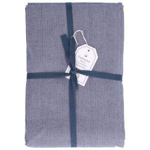 Nappe, coton, bleu chiné, 145 x 300 cm