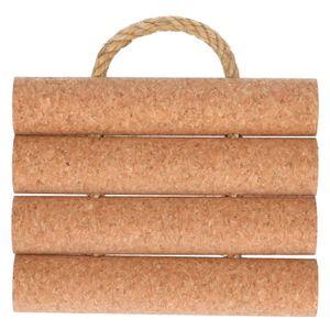 Onderzetter, kurk met touw, 17 x 13 cm