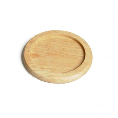 Onderzetter,  rubberhout, Ø 9,5 cm