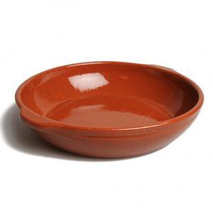 Ovenschaal rond, rood aardewerk, Ø 25 cm