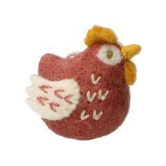 Paashanger kip, vilt, roze