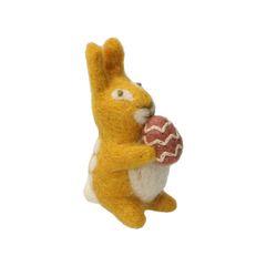 Paashanger konijn, vilt, geel