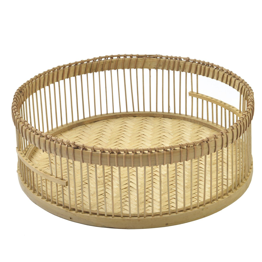 Panier, bambou, Ø 35 x 11,5 cm