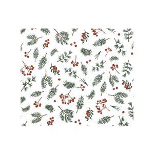 Papier cadeau, baies rouges et brindilles, 70 x 250 cm