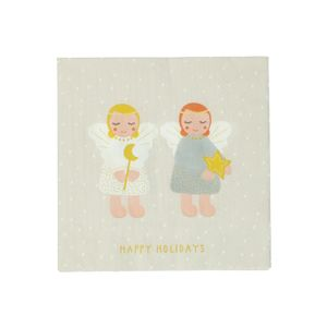 Papierservietten, kleine Engel, Stück, groß