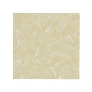 Papierservietten, weiß mit gelbem Blättermotiv, 33 x 33 cm