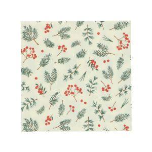 Papierservietten, Zweige und rote Beeren, 33 x 33 cm