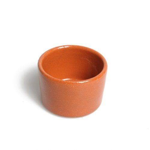 Petit beurrier, en terre cuite, Ø 6 cm