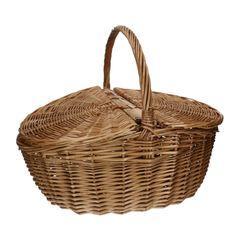 Picknickmand, wilgenteen, ovaal