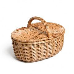Picknickmandje, wilgenteen, klein