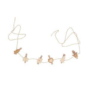 Pinces + corde, Forêt en fête, bois, lot de 6