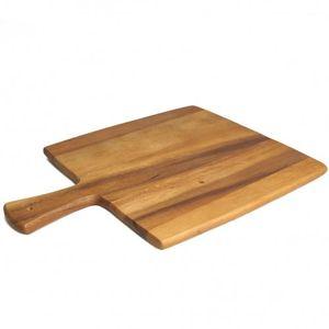 Planche à couper/fromage, bois d'acacia, 38,5 x 29,5 cm