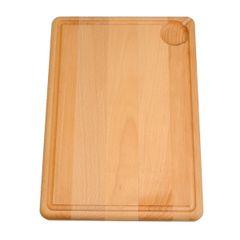 Planche à découper avec gouttière, bois de hêtre, 35 x 25 cm