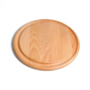 Planche à découper, bois de hêtre, Ø 28 cm
