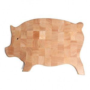 Planche à découper cochon, hévéa, 43,5 x 26 cm