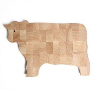 Planche à découper vache, hévéa, 43,5 x 26 cm