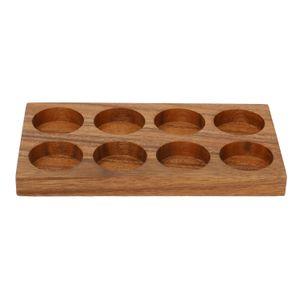 Plankje voor kruidenpotjes, acaciahout
