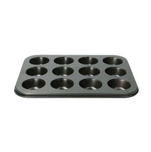 Plaque à 12 muffins, métal, 26 x 20,5 cm