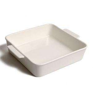 Plat à four blanc, porcelaine, 19,5 cm