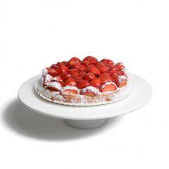 Plat à tarte sur pied, porcelaine, Ø 32,5cm