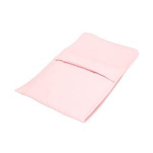 Poppendeken, katoen, roze, 48 x 27 cm
