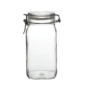 Pot à provision, fermeture mécanique, verre, 1,5 l