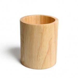 Pot à ustensiles de cuisine, bois d'hévéa