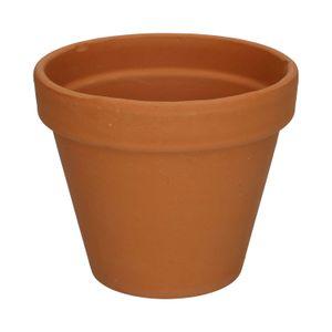 Pot de fleur, avec rebord, terre cuite, Ø 13,5 cm