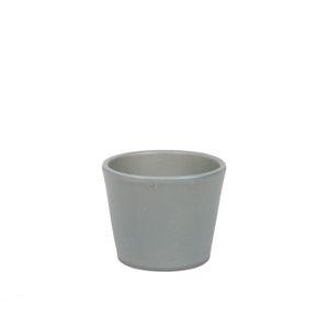 Pot de fleur, céramique, gris mat, Ø7 cm