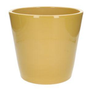Pot de fleur, céramique, jaune, Ø 24 cm