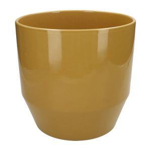 Pot de fleur, céramique, ocre jaune, Ø 23 cm