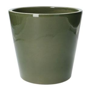 Pot de fleur, céramique, vert foncé, Ø 20 cm