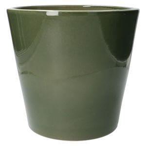 Pot de fleur, céramique, vert foncé, Ø 24 cm
