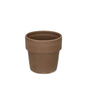 Pot de fleur, terre cuite, gris, Ø 10,4 cm