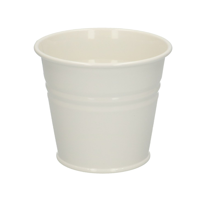 Pot de fleur, zinc, blanc cassé, Ø 11 cm