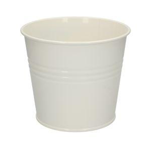 Pot de fleur, zinc, blanc cassé, Ø 17 cm