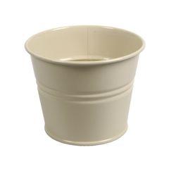 Pot de fleur, zinc, gris-vert clair, Ø 14,5 cm