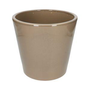 Pot de fleurs, céramique, taupe, Ø 24 cm